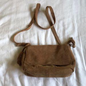 e7d7a364e4 Zara Bags | Camel Tan Split Suede Crossbody Bag | Poshmark